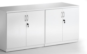 Melamine credenza with locking doors and adjustable shelving 900H x 1800L